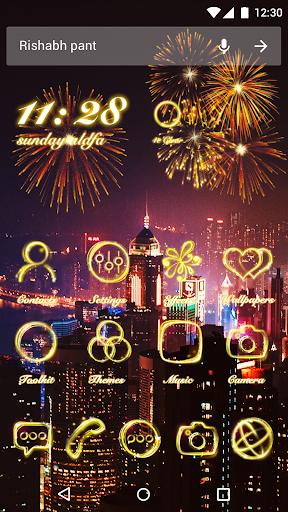 Neon Light Theme - Fire Flowers Theme 2018 1.0.0 screenshots 1