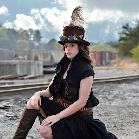 Steam Punk by Martha Needham - People Portraits of Women
