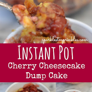 Instant Pot Cherry Cheesecake Dump Cake.