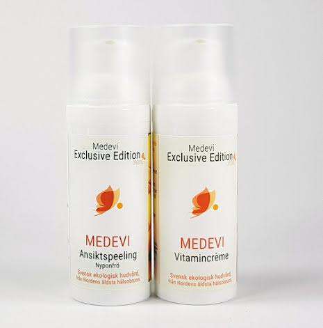 Ansiktspaket, Medevi Vitamincreme, Ansiktspeeling nyponfrö