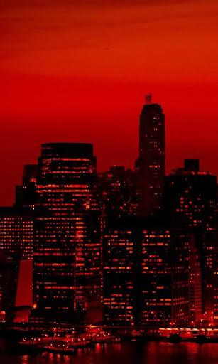 赤い空 ニューヨーク市 lwp