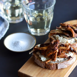 Cashew Ricotta Toasts with Seared Mushrooms