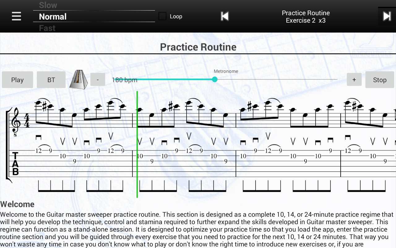 Guitar Master Sweeper Lessons- screenshot