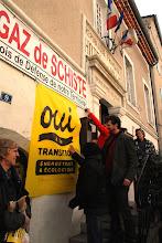 Photo: Conférence de presse du Collectif OUI à la Transition énergétique et écologique le 16 mars à Villeneuve-de-Berg -  © Olivier Sébart