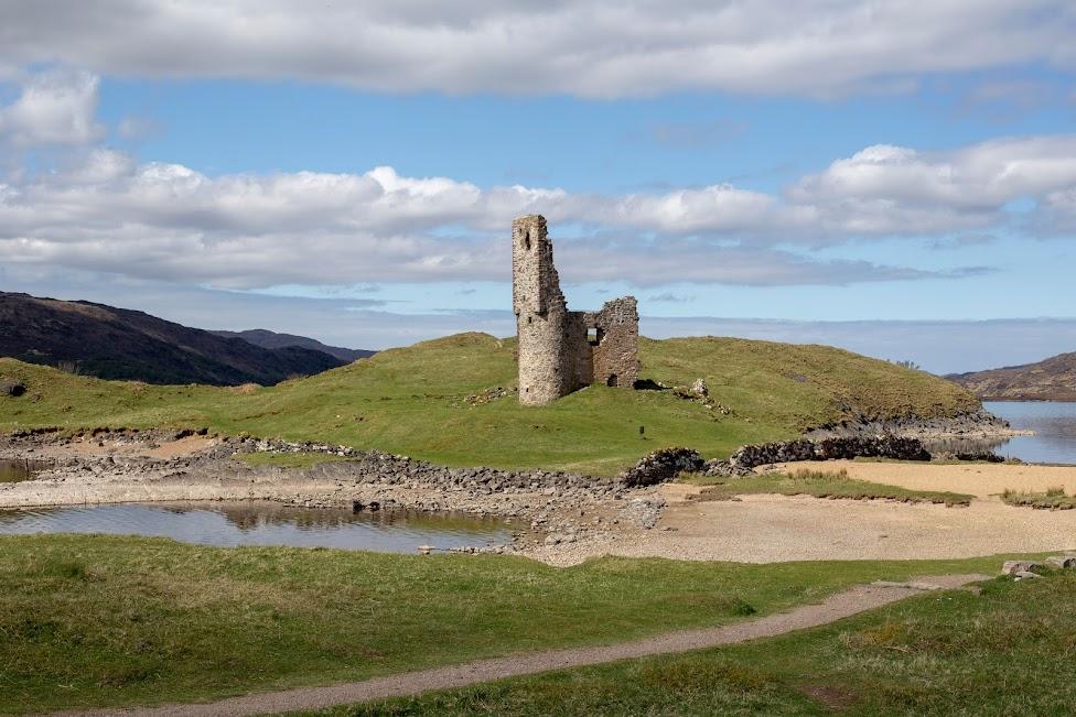 droga, Ruiny Ardvreck Castle, Szkocja