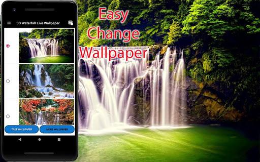 3D Waterfall Wallpaper - Screen Lock, Sensor, Auto ss2