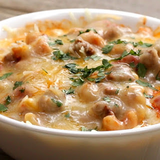 2. One- Pot Cheesy Taco Pasta