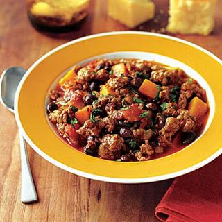 Turkey, Squash and Black Bean Chili