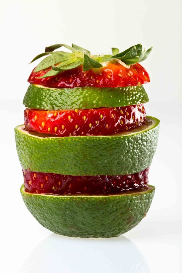citron exotique by Olivier Tabary - Food & Drink Fruits & Vegetables ( citron, salade de fruit, rouge, fraise, pwcfruit, vert )