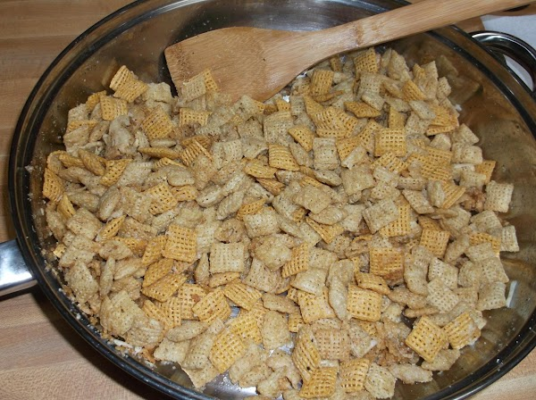 Continue to stir and heat for 5 to 6 minutes, until cereal is lightly...