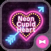 Lovely Theme Neon Cupid Heart