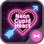 Lovely Theme Neon Cupid Heart APK icon