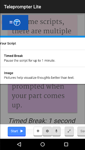 android Teleprompter Lite Screenshot 3