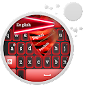 GO Keyboard Red Neon icon