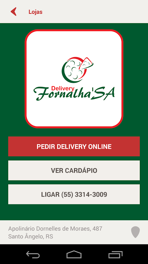 Delivery Fornalha'SA- screenshot