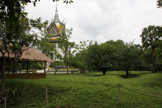 Photo: Year 2 Day 35 - Memorial Stupa at Choeung Ek (One of the Killing Fields)