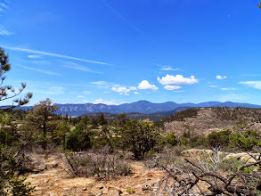 Photo: The western ridge with Black Mountain in the middle and the Tooth off to the left.