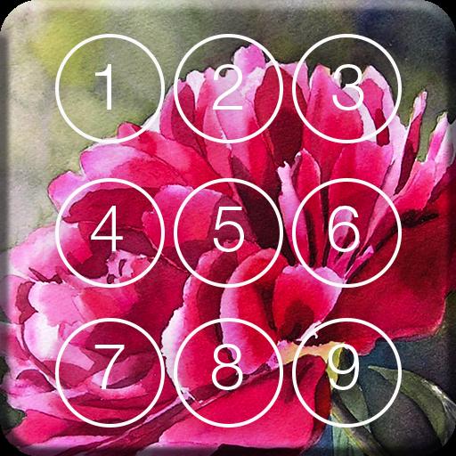 Watercolor Flower Screen Lock