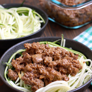 Thai Coconut Beef & Zucchini Noodles.