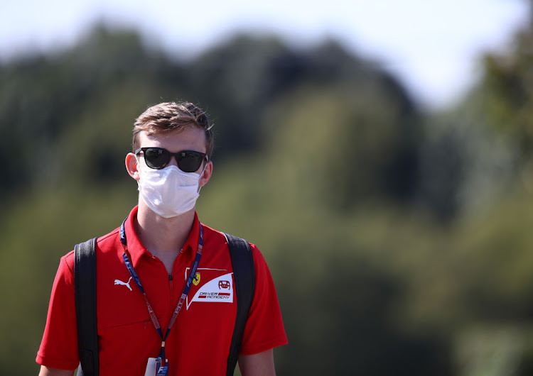 Callum Ilott of Great Britain and UNI-Virtuosi Racing ahead of the Formula 2 Championship at Autodromo di Monza on September 3 2020 in Monza, Italy.