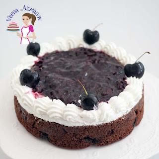 Moist Chocolate Cherry Cake.