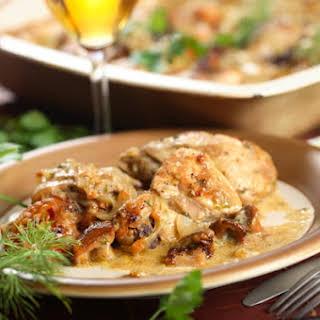 Creamy Chicken & Mushroom Casserole.