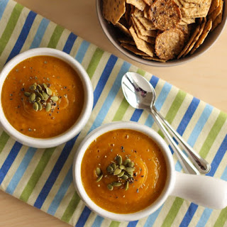 Velvet Butternut Squash and Apple Soup.