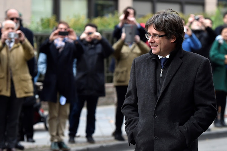 Carles Puigdemont arrives for a news conference in Brussels, Belgium on October 31, 2017. Picture: REUTERS/ERIC VIDAL