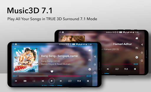 3D Surround 7.1 MusicPlayer (FREE) 2.0.39 screenshots 2