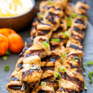 Jerk Chicken Skewers with Mango Habanero Sauce