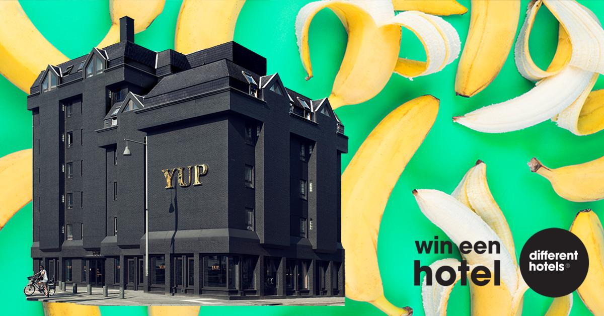 Motiveer jouw deelname en misschien mag jij met 99 andere gasten naar het YUP Hotel!