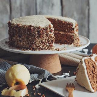 Vegan Apple Spice Cake With Maple Buttercrea