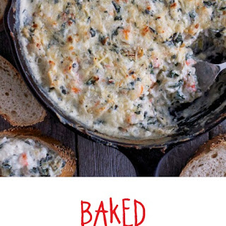 Baked Spinach & Artichoke Shrimp Dip