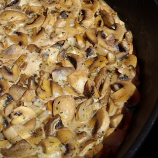 Creamy Garlic Mushroom Sauce.