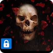 AppLock Theme Skeleton Horror