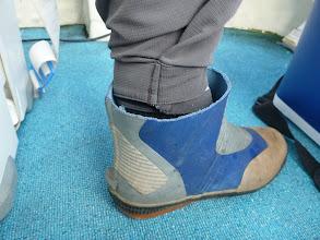 Photo: おおーっ!長靴を「夏使用」にカットしてるー!