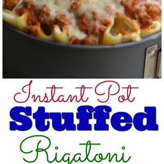 Instant Pot Stuffed Rigatoni