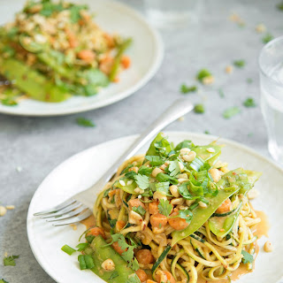 Zoodle Stir-fry With Spicy Peanut Sauce.