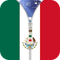 Mexico flag zipper Lock Screen icon
