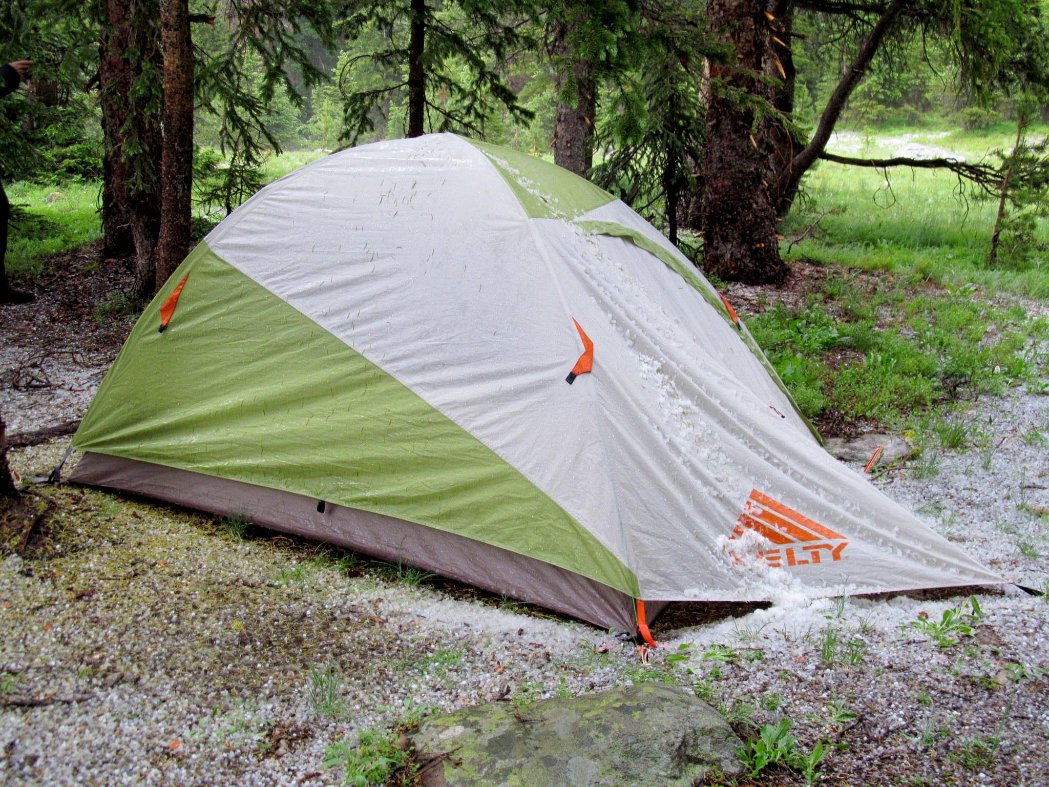Photo: Hail on my tent