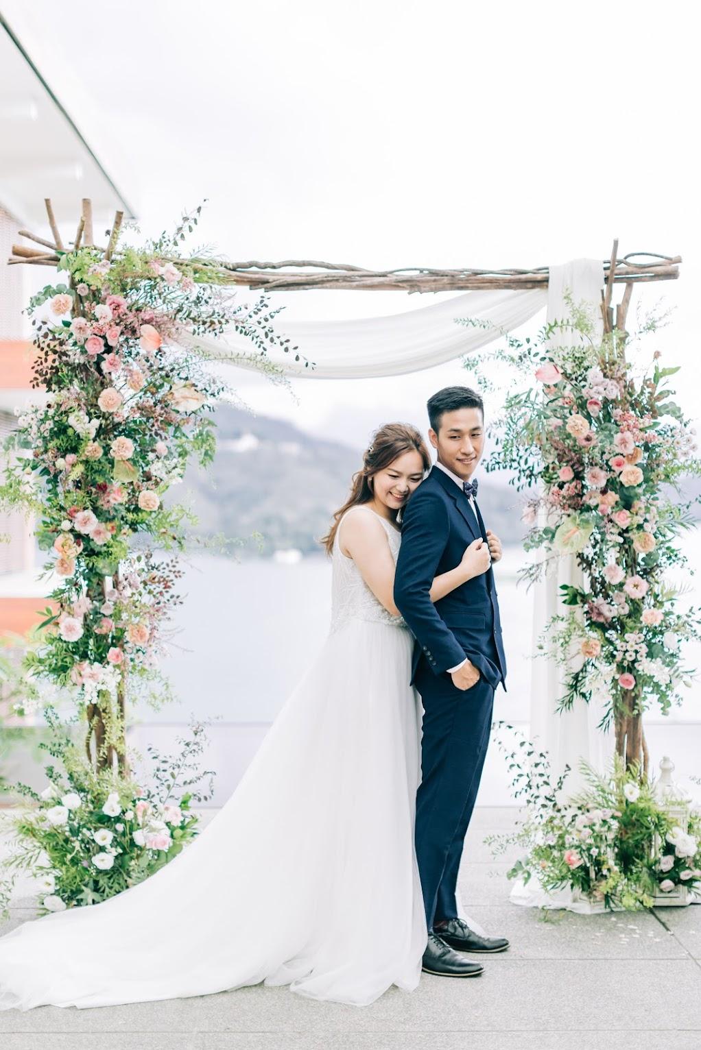 涵碧樓婚禮攝影 -拱門前