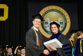 Photo: Jason Stein, Biology and Psychology major from Rockville, Md., The Maria Leonard Senior Book Award and The H.P. Sturdivant Biology Award