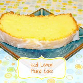 Iced Lemon Pound Cake.