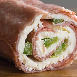 Salami Cream Cheese Roll-Ups.