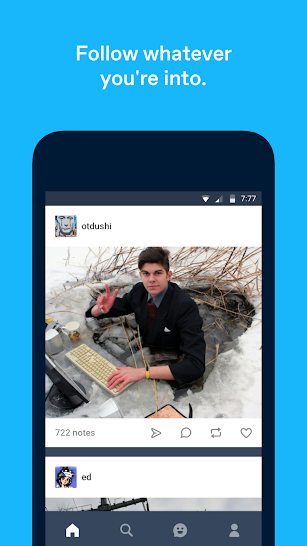 Tumblr screenshot for Android
