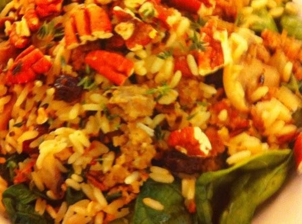 Mushroom & Sausage Wild Rice W/pecans & Raisins Recipe