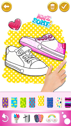 Glitter dress coloring and drawing book for Kids screenshot 4