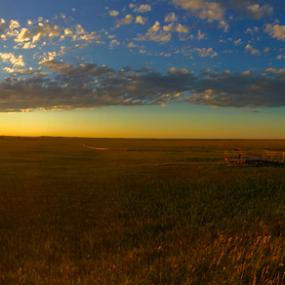 Sunset Badlands Prairie  by J.c. Phelps - Landscapes Prairies, Meadows & Fields ( field, grassland, sunset, sunsets, south dakota, oranges, prairie )