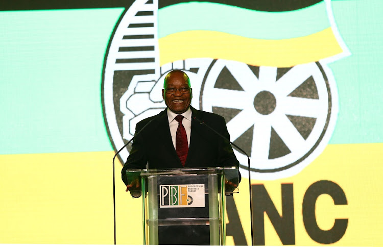 Outgoing ANC President Jacob Zuma during the ANC Gala Dinner before the start of the ANC Elective Conference taking place at Nasrec.