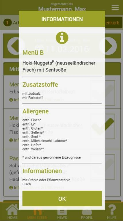 GutenAPPetit! – Screenshot